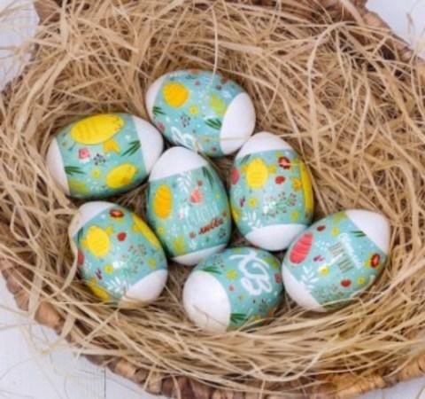 060-0088 Пасхальная термоусадочная плёнка «Цыплятки», на 7 яиц