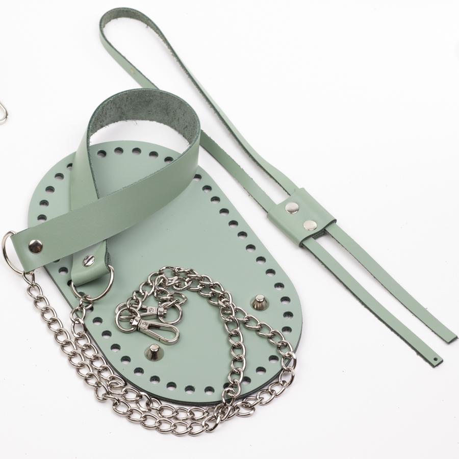 """Каталог Комплект для торбы """"Фисташка"""". Укреплённое дно с ножками и  ручка с цепочкой IMG_0976.jpg"""