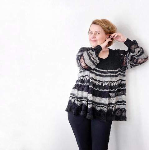 Набор для вязания модели SCARLETT (автор Лена Родина) кружево БЕЛОЕ