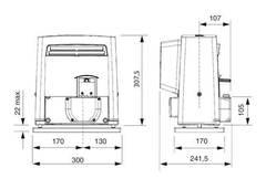BX704AGS Привод 230В самоблокирующийся для откатных ворот (арт.801MS-0020)