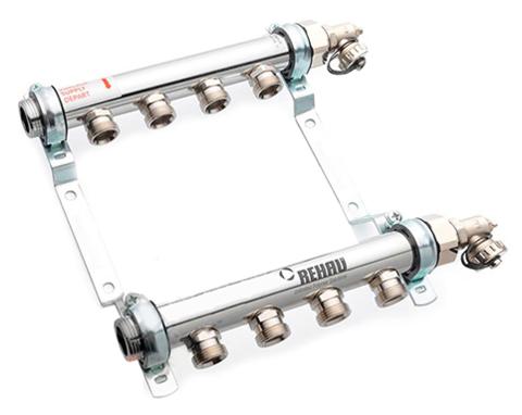 Rehau HLV 10 контуров коллектор для систем радиаторного отопления (11102161001)