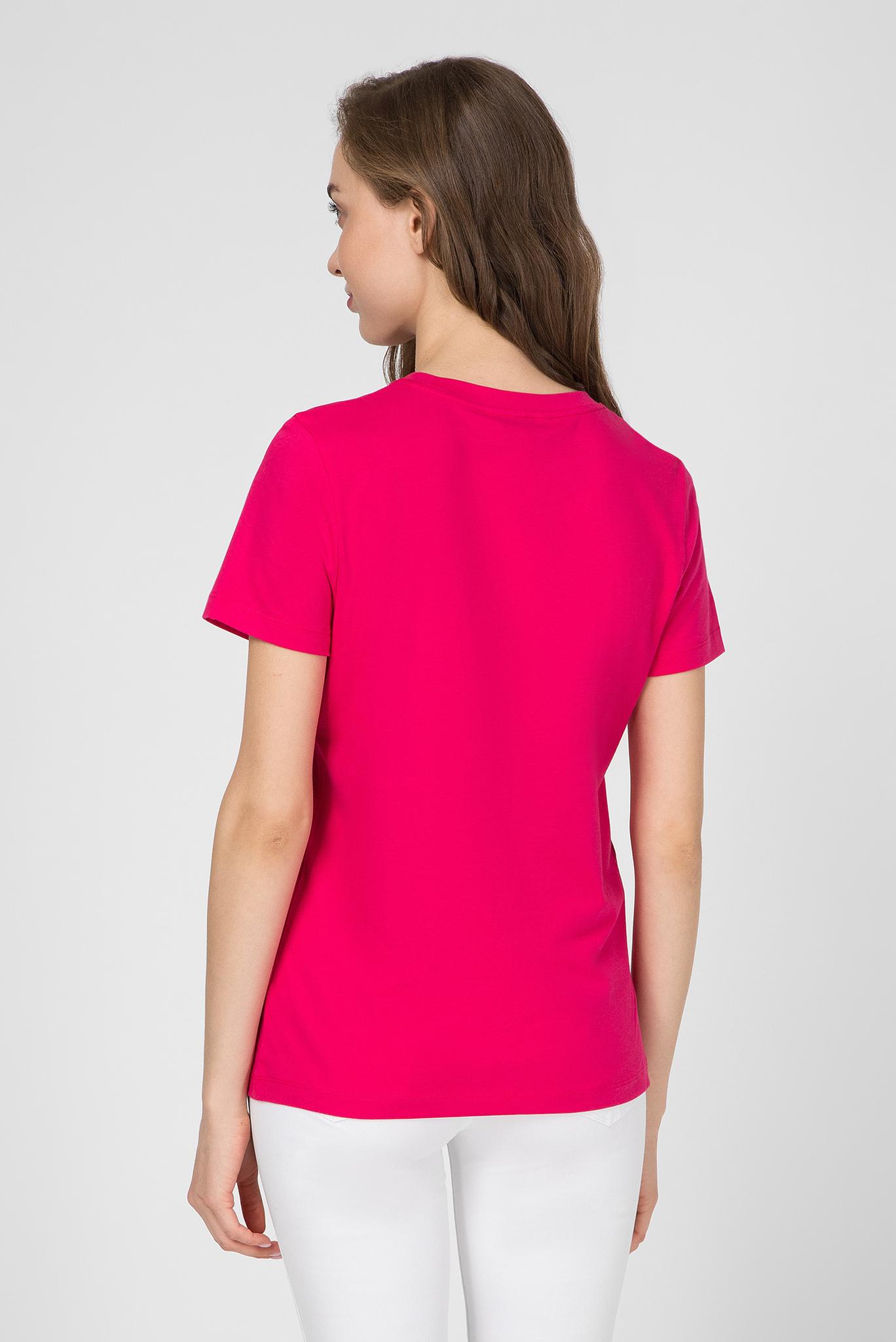 Женская розовая футболка NEW TH ESS Tommy Hilfiger