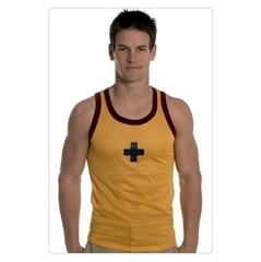 Майка спортивная в сетку Andrew Christian Sport Mesh Tank Yellow AC16