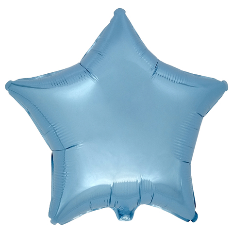Воздушный шар Звезда 44см (Голубая)