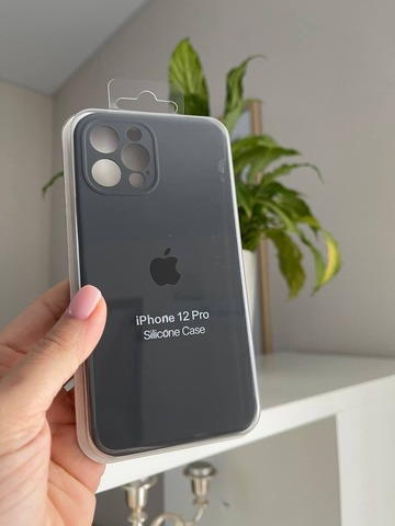 iPhone 12 (6.1) Silicone Case Full Camera /charcoal grey/