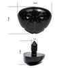 Носик винтовой треугольный для игрушки 26 х 21 мм, черный, пластиковый с заглушкой