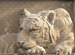 Силиконовый молд № 0677 Тигр