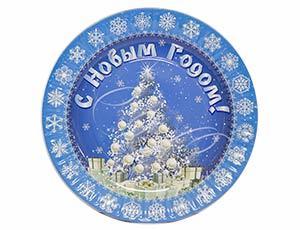 Тарелка бумажная С Новым Годом Зимняя Сказка 23см 6шт