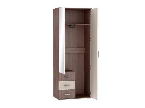 Шкаф двухстворчатый Рошель ШК-802 платяной Браво Мебель ясень шимо темный, светлый