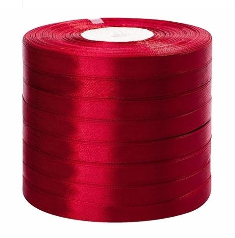 Лента атласная в уп. 8 шт. (размер: 10 мм х 50 ярд) Цвет: бордовая