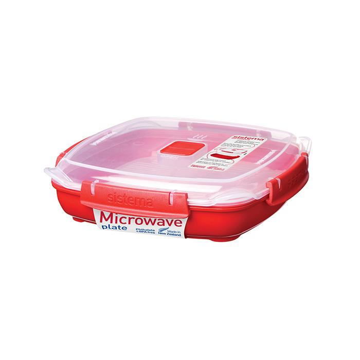 """Тарелка для разогрева в СВЧ Sistema """"Microwave"""" 880 мл"""