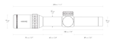 Оптический прицел Hawke Frontier IR 30 1-6x24 (L4a Dot)