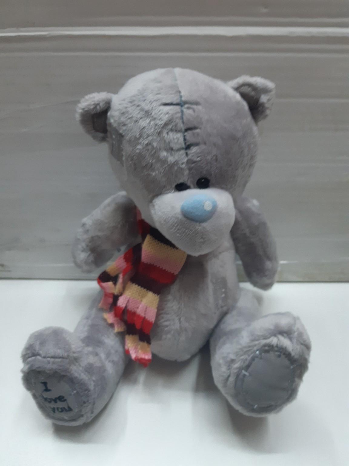 Мишка Тедди с шарфиком в трёх расцветках