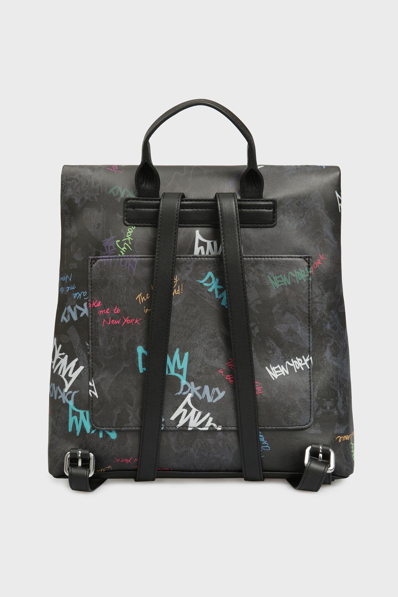 Женский рюкзак с принтом TILLY-MD FLAP DKNY