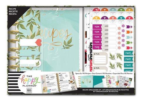 Набор для заполнения ежедневника  + планер Classic Happy Planner® Box Kit - 19,3 х 24,3см. -Recipes (НЕ датирован)