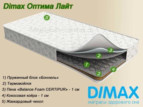 Матрас Dimax Оптима Лайт от Мегаполис-матрас