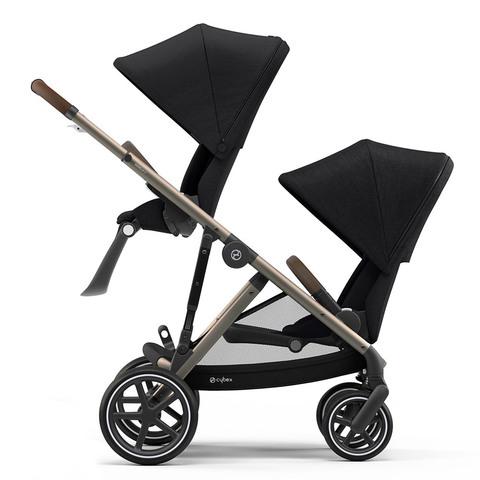 Детская коляска для двойни Cybex Gazelle S 2 в 1 TPE Deep Black