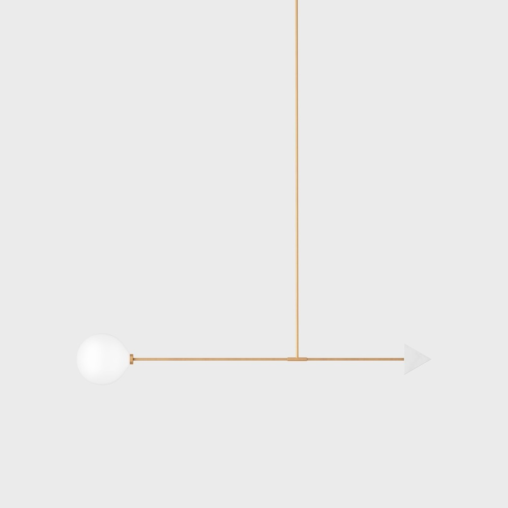 Светильник потолочный Wishnya Libra trig мрамор - вид 1