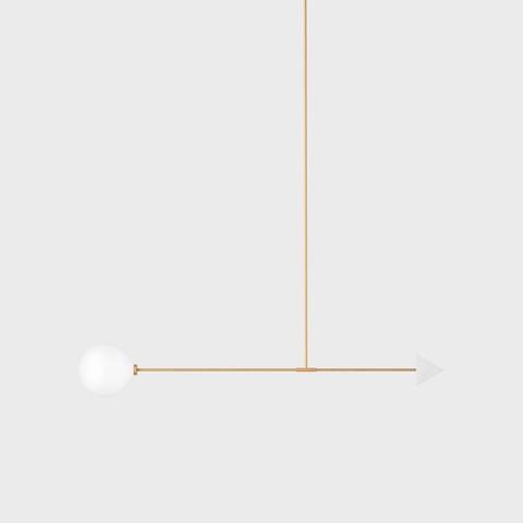 Светильник потолочный Wishnya Libra trig мрамор