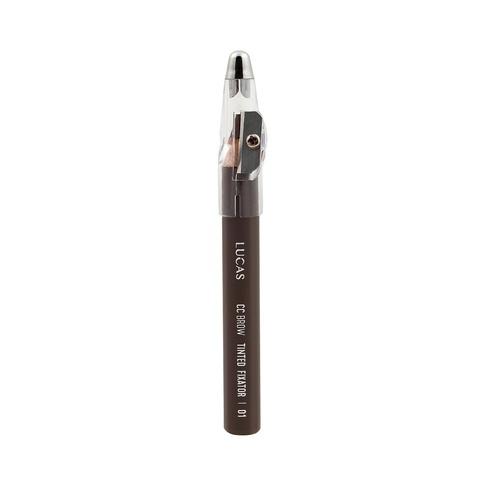 Карандаш восковый для бровей CC Brow TINTED WAX FIXATOR, цвет 01 (серо-коричневый)