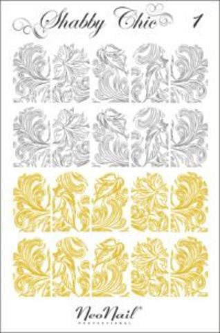 Трафарет для дизайна Shabby Chic 01 белый
