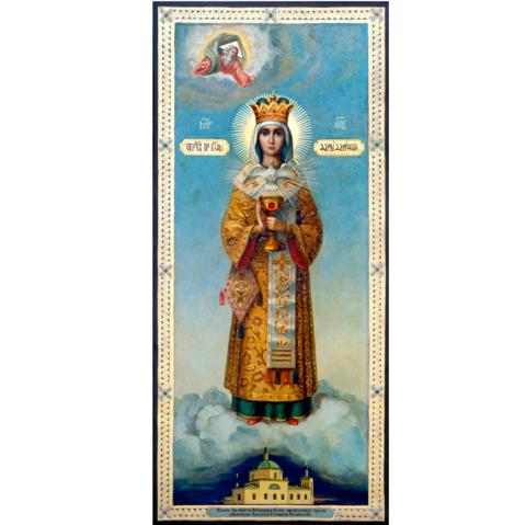 Икона Божией Матери Дары Дающая (Архиерейша) на дереве на левкасе мастерская Иконный Дом