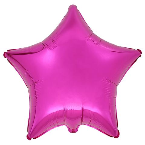 Воздушный шар Звезда 44см (Фуксия)