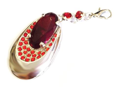 usb-флешка кулон серебро красный изумруд