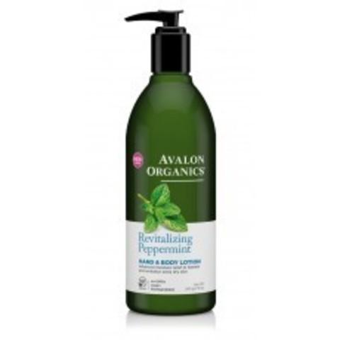 Avalon Organics Hand & Body Lotion: Лосьон для рук и тела с маслом мяты (Peppermint Hand & Body Lotion), 340г