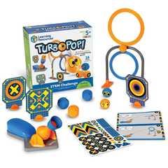LER9292 Развивающая игрушка Попади в цель. Турбо (серия Crashapult STEM, 16 элементов) Learning Resources