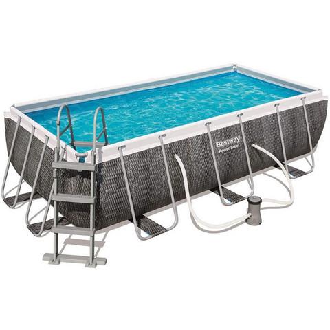 Каркасный бассейн Bestway 56721 (404х201х100 см) с картриджным фильтром и лестницей / 22531