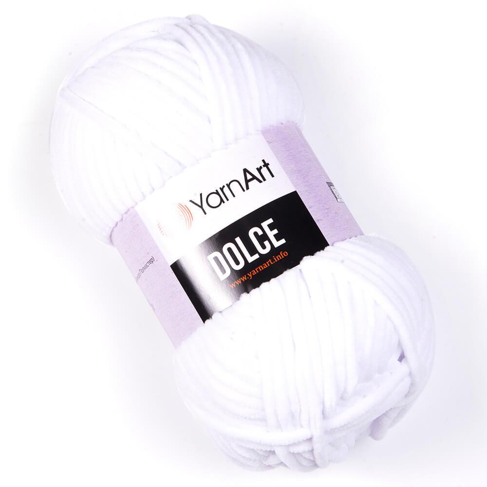 Пряжа YarnArt Dolce белый 741
