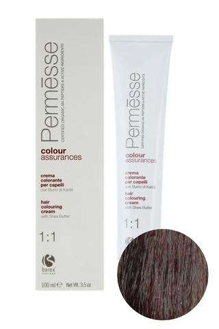 Крем-краска для волос 5.35 Светлый каштан табачный Permesse, Barex
