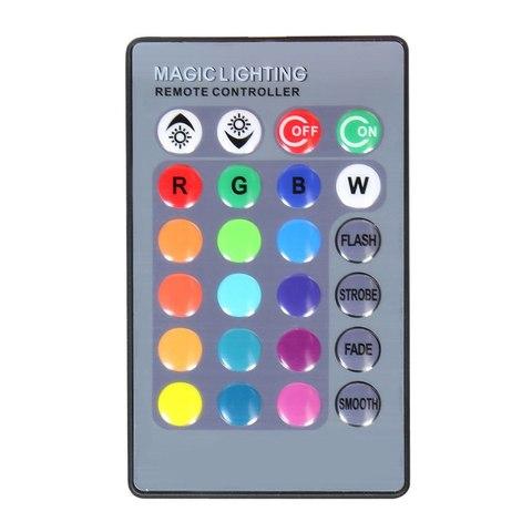 Лампочка светодиодная с пультом управления  меняющая цвет (16 цветов  4 режима) RGB Матовая