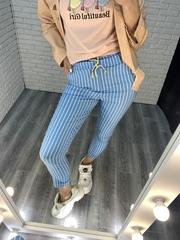 брюки в мелкую полоску nadya