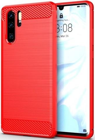 Чехол Carbon для Huawei P30 Pro серия Карбон | красный