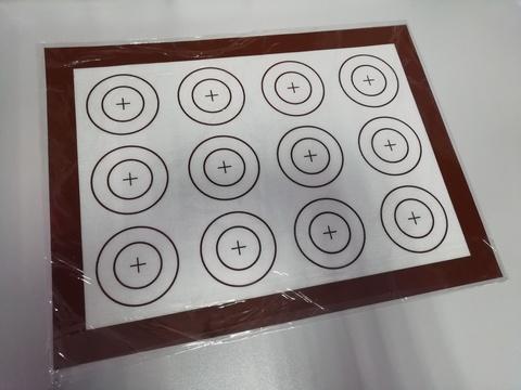 Коврик с разметкой силиконовый 30*40 см d=4/7см