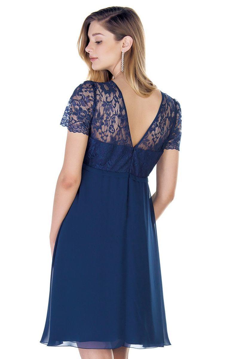 Платье для беременных 09447 синий
