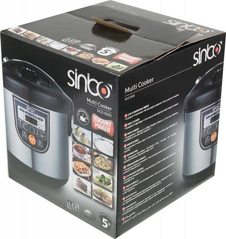 Мультиварка Sinbo (5 литров) 700 Вт, серебристая