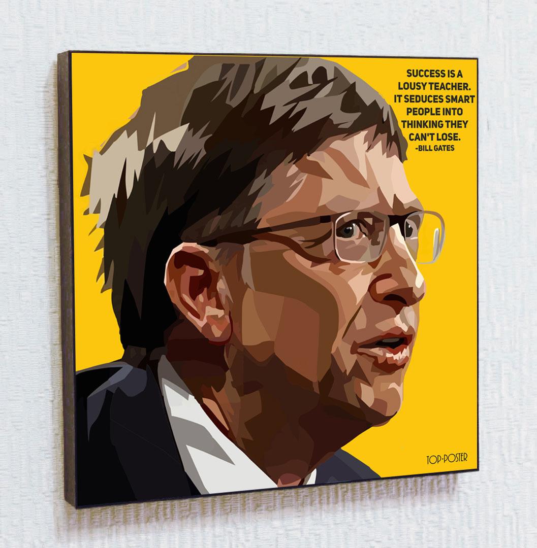 Билл Гейтс Картина ПОП-АРТ