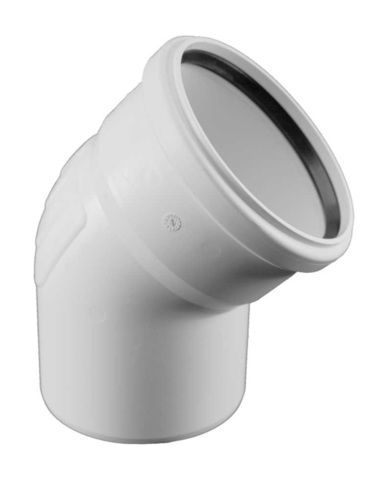 Rehau Raupiano Plus d 110 мм 45° отвод для канализационных труб (11234441001)