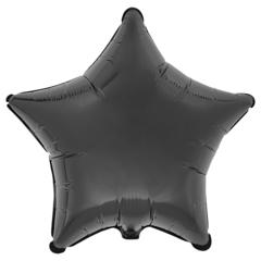Воздушный шар Звезда 44см (Черная)