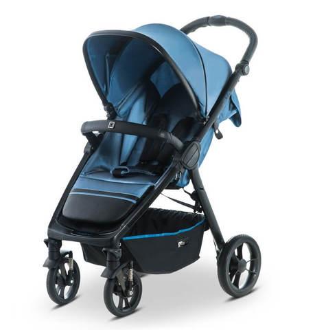 Прогулочная коляска Moon Jet-R Blue nylon strip (503)
