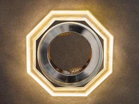 Встраиваемый Светильник GP-8031-3W-CH Хром+Диодная подсветка