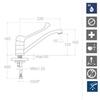 Смеситель для раковины с поворотным изливом и медицинской ручкой AQUANOVA FLY 5599YMED - фото №2
