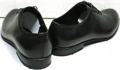Кожаные туфли осенние мужские Ikoc 063-1 ClassicBlack