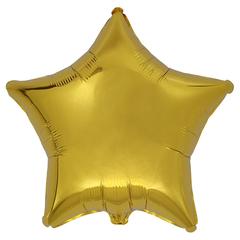 Воздушный шар Звезда 44см (Золотая)