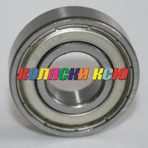 Подшипник 6001zz железная заглушка (вн.диаметр 12мм, наруж диам 28мм) №009001