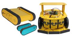 Учебный комплект продвинутого уровня для проектирования и конструирования колесных и гусеничных роботов