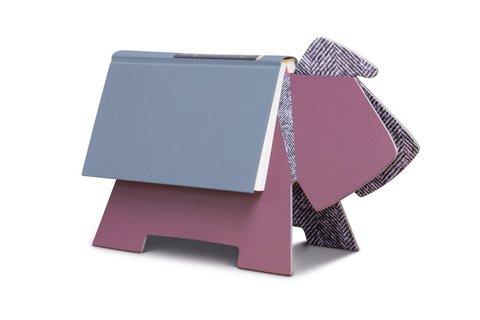 Stay! Doggy Book Rest - Purple Herringbone